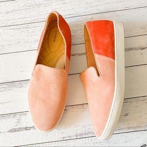 Birdie | Blush & Coral Sunset Sneakers